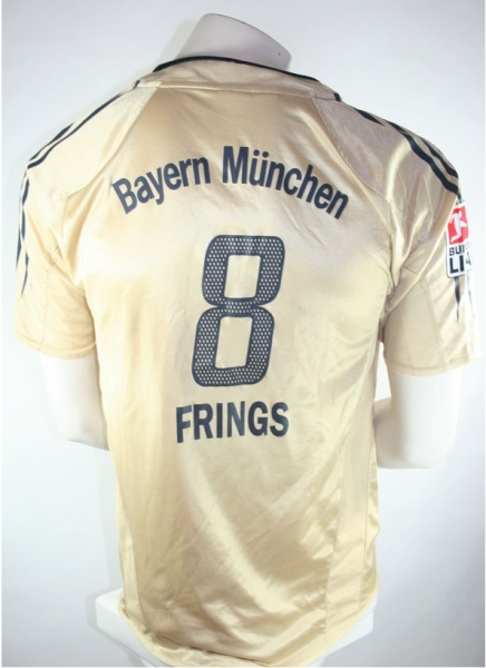 Adidas FC Bayern Munich jersey 8 Thorsten Frings 2004-2006 Gold men's XXL/2XL