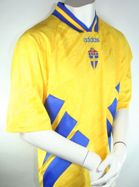 Adidas sweden jersey 4 Joachim Björklund 1994 World cup USA men's S/M/L/XL/XXL