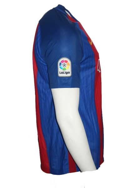 9b836932bc7 Nike FC Barcelona jersey 10 Lionel Messi 2016 17 Qatar home men s S ...