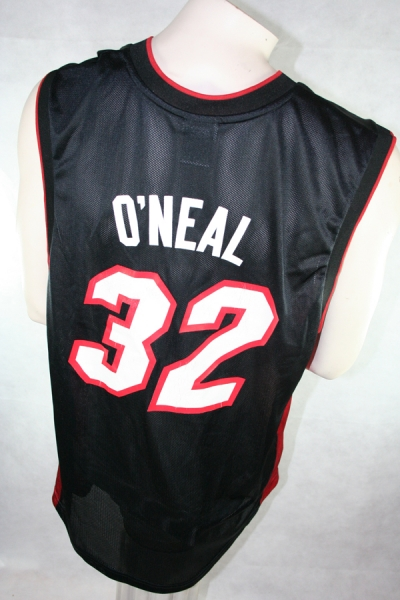 Reebok Miami Heat Jersey 32 Shaquille O'Neal NBA Swingman Black men's L