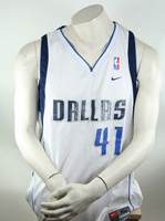 Nike Dallas Mavericks Trikot 41 Dirk Nowitzki NBA Mavs Weiß Herren XL