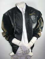 Leather jacket hand signatured Michael Jackson History World Tour men's M