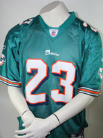 Miami Dolphins NFL Reebok Jersey Trikot 23 Brown L Authentic