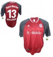 2f0f7da4735ecc Adidas FC Bayern Mnchen Trikot 13 Michael Ballack 2002 03 T-Mobile Herren L