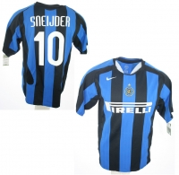 Nike Inter Milan jersey 10 Wesley Sneijder Champions League home men's L