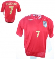 Umbro England Trikot 7 David Beckham WM 2006 Away Rot Herren XL
