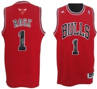 Adidas Chicago Bulls Trikot 1 Derrick Rose Heim Rot Swingman NBA Basketball Herren XL (Öz)