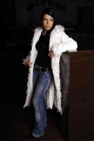 Woman winter coat white in the sizes 36 / 38 and 40