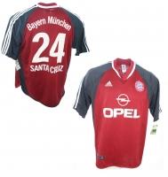 e6a812f721459a Adidas FC Bayern M nchen Trikot 24 Roque Santa Cruz CL 2001 02 Opel Herren  XL