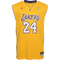 Adidas Los Angeles L.A. Lakers Jersey 24 Kobe Bryant Home yellow men's XL