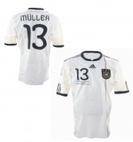 Adidas Germany jersey 13 Thomas Müller 2010 DFB home Patches white men's L/XL