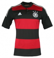Adidas Germany jersey World Cup 2014 Brazil away red black men's XS/M/L/XL/3XL