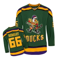 Anaheim Mighty Ducks Trikot 66 Gordon Bombay NHL Film Grün Neu Herren S/M/L/XL/XXL/XXXL