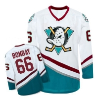 Anaheim Mighty Ducks Trikot 66 Gordon Bombay NHL Film Movie Weiß Neu S/M/L/XL/XXL/3XL
