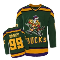 Anaheim Mighty Ducks Trikot 99 Adam Banks NHL Film Grün Neu Herren S/M/L/XL/XXL/XXXL