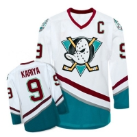 Anaheim Mighty Ducks Trikot 9 Paul Kariya NHL Film Movie Weiß Neu S/M/L/XL/XXL/3XL