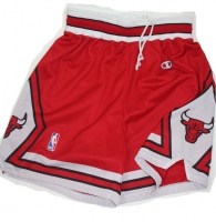 Champion Chicago Bulls Hose Shorts Rot Rodman Pippen Michael Air Jordan Herren XL