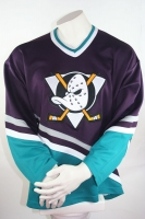 CCM Anaheim Mighty Ducks Trikot NHL Walt disney Eishockey Shirt Blau Away Herren M oder XL