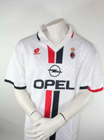 Lotto Ac Mailand Trikot Opel 14 George Weah 1995/96 - XL