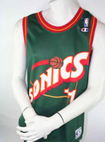 Champion Seattle Super Sonics jersey 11 Detlef Schrempf NBA Home men's M