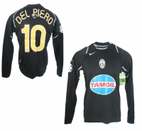 368ad65a4 Nike Juventus Turin jersey 10 Alessandro Del Piero 2006 07 black Tamoil  men s M