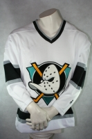 Starter Anaheim Mighty Ducks Trikot Eishockey Movie Film Heim Weiß Herren M
