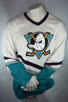 CCM Anaheim Mighty Ducks Trikot Heim Weiß Eishockey Movie Herren XL/XXL