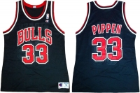 Champion Chicago Bulls Trikot 33 Scottie Pippen Schwarz NBA 90er Herren M