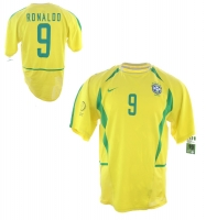 Nike Brazil jersey 2002 WC 9 Ronaldo El Fenomeno new men's S/M/L/XL/XXL