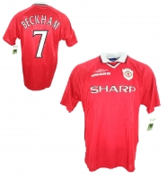 Umbro Manchester United Trikot 7 David Beckham 1999 CL Sieger Sharp Herren L/XL/XXL