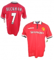 Umbro Manchester United Trikot 7 David Beckham 1998/99 mit patch CL Sieger Sharp Herren XXL/2XL