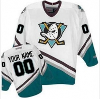 Anaheim Mighty Ducks Jersey customize NHL Movie white men's S/M/L/XL/XXL/XXXL