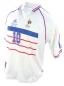 Preview: Adidas France jersey 10 Zinedine Zidane world cup 98 1998 white away men's XS =164cm or XL