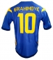 Preview: Umbro Sweden jersey 10 Zlatan Ibrahimovic Euro 2008 away blue men's L