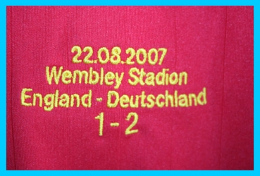 Adidas Germany jersey England Wembley DfB 2006-2007 red men's M