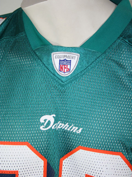 Miami Dolphins NFL Reebok Jersey 23 Brown size Large Authentic