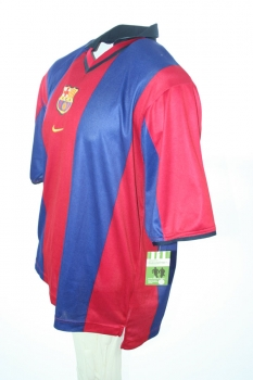 Nike FC Barcelona Jersey 11 Rivaldo Home 2000/2001 home Blue/Red men's XL