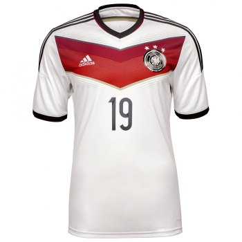 Adidas Germany jersey 19 Mario Götze WC 2014 white Adizero men size M