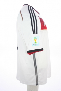Adidas Germany jersey 10 Lukas Podolski World Cup 2014 home white men's L