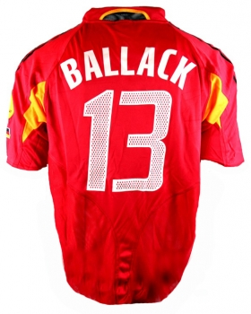 Adidas Germany jersey 13 Michael Ballack DfB Euro 2004 red men's XXL/2XL