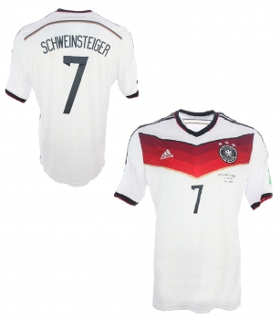 Adidas Germany jersey 7 Bastian Schweinsteiger World Cup 2014 home white men's L or XL