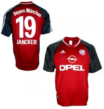 Vintage Herren 90er FC Bayern München Trikot Adidas Bixente Lizarazu blau rot Fußball Deutsche Bundesliga Opel Kurzarm XL