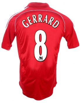 Adidas FC Liverpool jersey 8 Steven Gerrard 2006-08 this is anfield home men's M