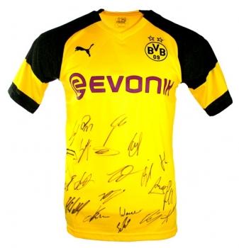 purchase cheap 55e48 42740 Puma Borussia Dortmund Trikot 2018/19 BVB Evonik Neu Team signiert Gelb  Herren M