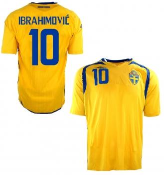 Umbro Schweden Trikot 10 Zlatan Ibrahimovic Euro 2008 Heim Gelb Herren M oder L