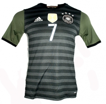 Adidas Germany jersey 6 Sami Khedira Euro 2016 away grey men's L