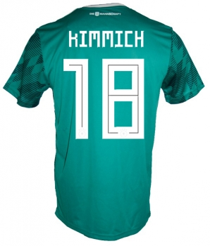 Adidas Germany jersey 18 Joshua Kimmich World Cup 2018 Russia away green 4 stars men's L