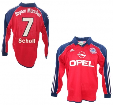 Adidas FC Bayern Munich jersey 7 Mehmet Scholl 1999/2001 match worn Opel Equipment men's L