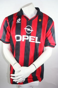 Lotto AC Milan Jersey Home 1994/1995 #18 Baggio Black/Red XL