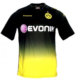 pretty nice 1a6e3 3aae5 Kappa Borussia Dortmund Trikot 2011/12 BVB Evonik Double Schwarz Away  Herren L